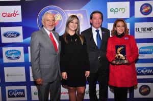 David Cañón, Vicky Dávila, Germán Mejía y Jineth Bedoya
